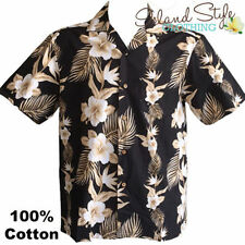 Cotton Blend Floral Hawaiian Casual Shirts for Men