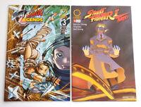 2 Udon Street Fighter Comics 1st printing Legends #3 2010, II Turbo #10 2009