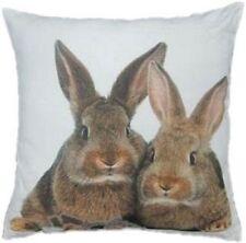 Kissen 2 Kaninchen Braun Deko Dekokissen Hase Rabbit GKKS2BK