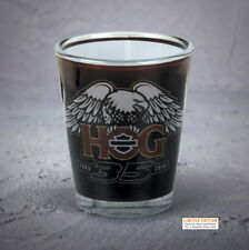 HARLEY-DAVIDSON OWNERS GROUP 35TH ANNIVERSARY LIMITED EDITION SHOT GLASS