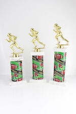 FANTASY FOOTBALL TROPHY SET! FOOTBALL TROPHIES FOR FANTASY LEAGUE! FREE ENGRAVE