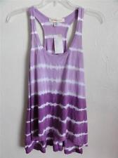 SO LOW SPORT SLEEVELESS STRIPE TANK, Purple/white stripe, Size S, MSRP $52