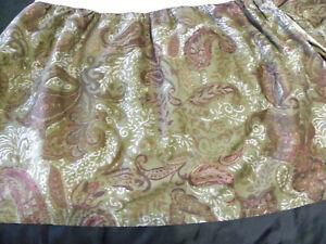 Lauren by Ralph Lauren Hayden King Size Bed Skirt Dark Green Paisley Brown Grey