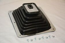 "Universal Hurst Style Super Rubber Shifter Boot & Chrome Plate 7 3/4"" X 8 3/4"""