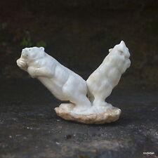 Bears Carved 70x100mm in Deer Antler Bali Carving ST426