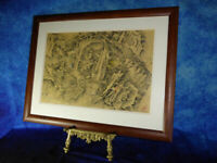 """ANTHONY CLARK """"Avignon"""" Original Signed Wash & Ink Abstract Art (Lowry interest)"""