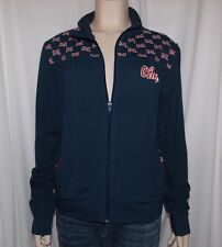 NWT NCAA Official OLE MISS REBELS  Junior Medium KLUTCH FULL ZIP COTTON JACKET
