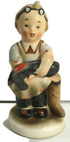 "Vintage Napco Ceramic Figurine Little Boy Cobbler ""Boots"" #AH901 Made in Japan"