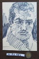 Old Drawing A Marker Basket Sketch Studio Portrait Male Period P28.5