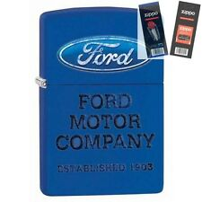 Zippo 28838 ford motor company Lighter with *FLINT & WICK GIFT SET*