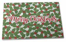 Extra Large Toughened Glass Cutting, Chopping Board, Christmas1GCBL