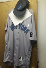New York Yankees Aaron Hicks 2016 Fathers Day Game Used Jersey & Hat Set #31 MLB