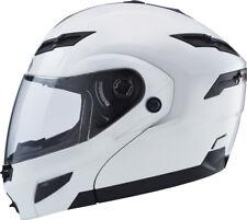GMAX GM54S Modular Motorcycle Helmet (Pearl White) L (Large)