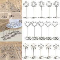 10pcs Table Number Stands Place Card Holder Name Card Photo Clip Wedding Favors