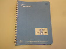 Tektronix Type K Plug In Unit Calibrated Preamp Instruction Manual