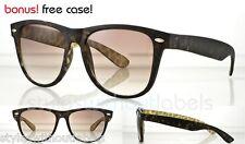 Matte Leopard Print Frame Super Trendy Retro Hipster Sunglasses Smoke Lens 80S
