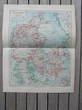Antique map landkaart Denemarken Denmark Danmark 1904
