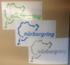 2 x Nurburgring car sticker decal