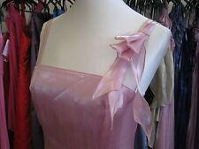 DEBUT/DEBENHAMS PINK RUFFLE ORGANZA BRIDESMAID/PROM/BALLGOWN/EVENING DRESS 6/8