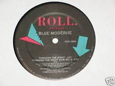 "BLUE MODERNE through the night 12"" RECORD 1986"