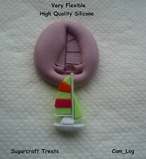Sail Boat Yacht Flexible Silicone Mould, Sugarcraft, Crafts , Fimo, Chocolate