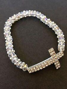 36PC Baptism Party Favors Bracelets Crystal Party Communion Recuerdos Bautizo