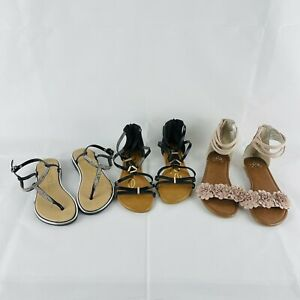 Girls  Sandals Lot of 3 - Bebe Girls & Justice Size : 2/3