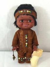 "Vintage CARLSON DOLLS Native American Indian boy, Desert indian chief 11.5"" tall"