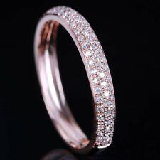 10K Rose Gold Finish Round Cut Diamond Elegant Engagement & Wedding Ring Band