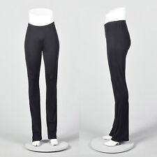 Large 2010s Ann Demeulemeester Black Stretch Leggings Silky Feel Extra Long