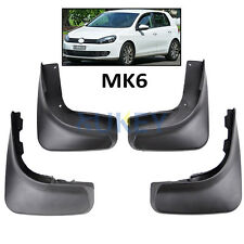 4Pcs Molded Mudflaps Mud Flaps For 09-12 VW Golf Mk6 6 Hatchback Splash Guards