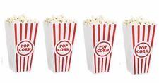 New Retro Popcorn Tubs Bowls Set Of 4 Movie Theatre Bucket Box ReUsable Plastic