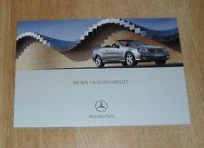 Mercedes CLK Cabriolet Brochure 2003 200K 240 320 500 55 AMG Elegance Avantgarde