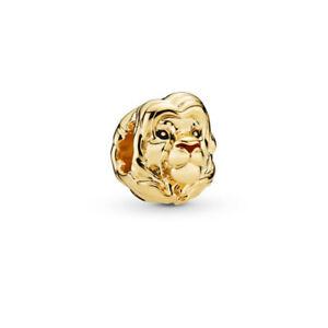 New European Golden Cz Charm Beads Pendant Fit Sterling Bracelet Chain Diy H-9