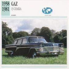 1958-1981 GAZ 13 CHAIKA Classic Car Photograph / Information Maxi Card