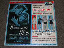 """WRITTEN on the WIND/FOUR GIRLS in TOWN (EX) 1956 Soundtrack (EX) 12"""" LP DL8424"""