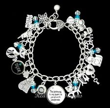 Glass Silver Plated Chain Fashion Bracelets