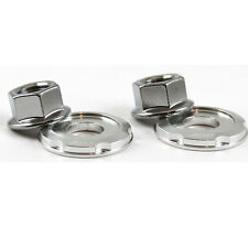 Strut Towe Brace Bar ARM  nut Washer bolt Chrome Nuts 14mm Nut Silver