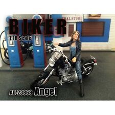 BIKER ANGEL FIGURE 1:18 SCALE MODEL AMERICAN DIORAMA 23868