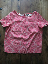 LOVE LABEL PINK SPARKLE SHORT SLEEVE TOP FLORAL SIZE 8 BRAND NEW WITH TAGS