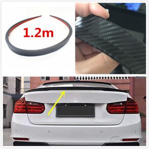 1.2M Car Rear Roof Trunk Spoiler Rear Wing Lip Trim Sticker Carbon Fiber Texture