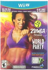 Zumba Fitness World Party w/ Belt for Wii U System Brand New Factory Sealed !