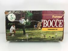Forster Bocce Ball Set Professional Tournament 06100 Made in USA Rules Included