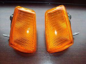 2x Peugeot 205 Naranja Intermitentes Lateral Kit Par Conductor y Pasajero Nuevo