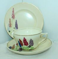 Vintage Booths Hollyhock England Tea Cup & Saucer 747916 faults