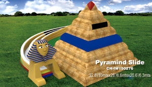 35x30x20 Commercial Inflatable Pyramind Water Slide Bounce House Obstacle Course
