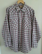 Big Mac Men's Shirt XL Regular Pearl Snap Front Long Sleeves 1993 USA Vintage