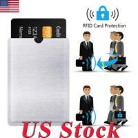 4/8/12/20 RFID Blocking Sleeve Credit Card Protector Bank Holder For Wallets US