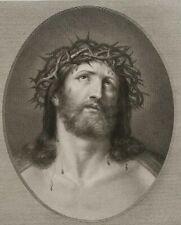 CIPRIANI; RENI, Ecce Homo. Kopf des dornengekrönten Jesu, 19. Jh., Kupferstich