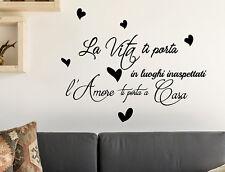 Wall stickers Frasi Amore la Vita Adesivi Murali Cucina Decorazione da parete